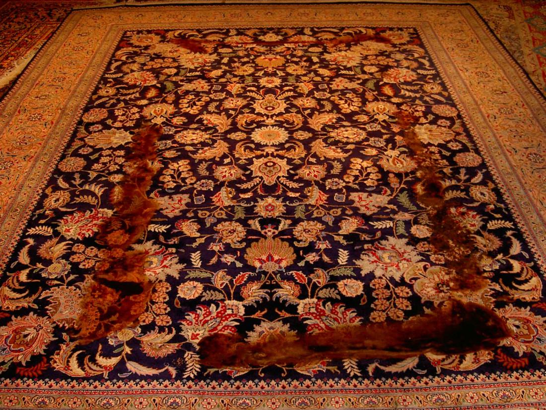 Kerestegian alfombras restauraci n de alfombras orientales - Restauracion de alfombras ...